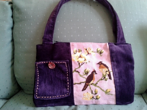 sac, recyclage tissus, recyclage canevas, création textile,